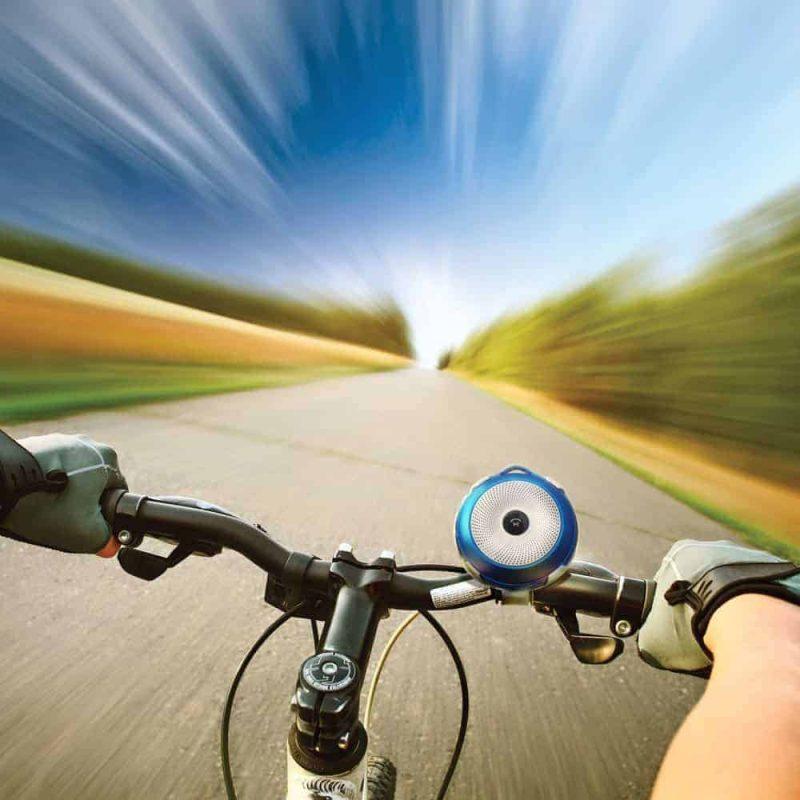 بروميت مكبر الصوت بلوتوث بحجم صغير يدعم الشحن مع دعامة التثبيت على الدراجة - بايك روك.