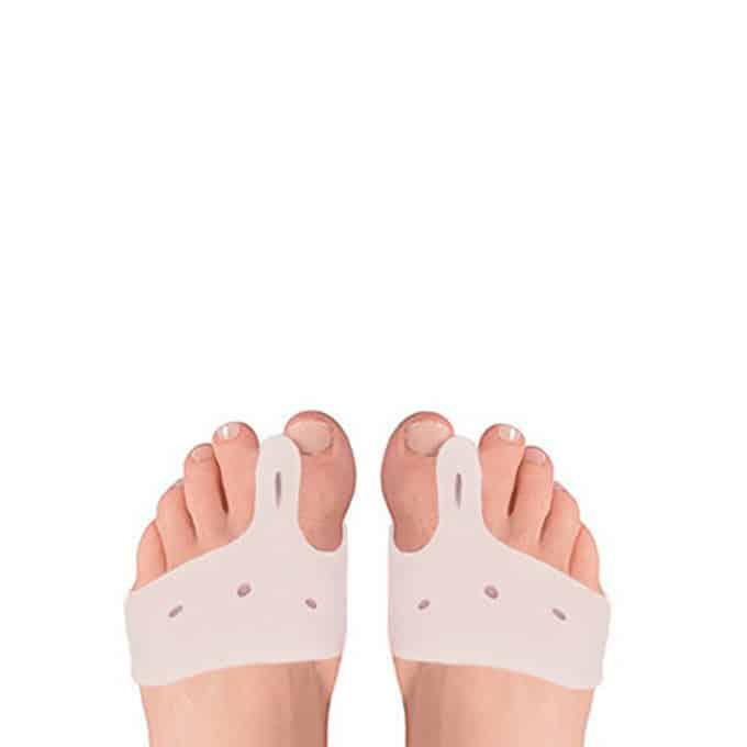 Séparateurs MP0011 d'orteils Protecteur Avec métatarsien Ce séparateur d'orteils avec tampon métatarsien joue un rôle de protecteur qui soulage la douleur