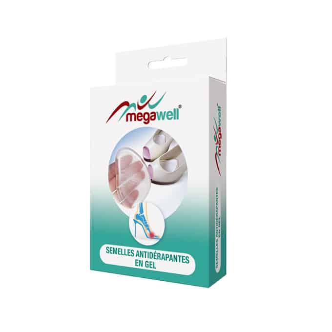 MEGAWELL - MP009 Semelles Antidérapantes En Gel Ces Demi-semelles vous offre plus de sécurité lors de la marche sur le fond de vos chaussures