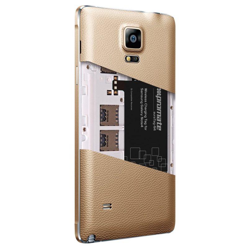 Puce pour Chargement Sans Fil Samsung Note 4 Promate Auratag-N4
